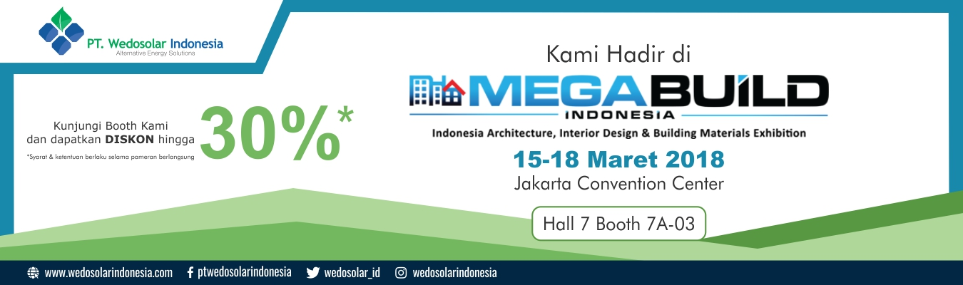 PT. Wedosolar Indonesia, Mega Build Indonesia Exhibition Jakarta Convention Center 2018