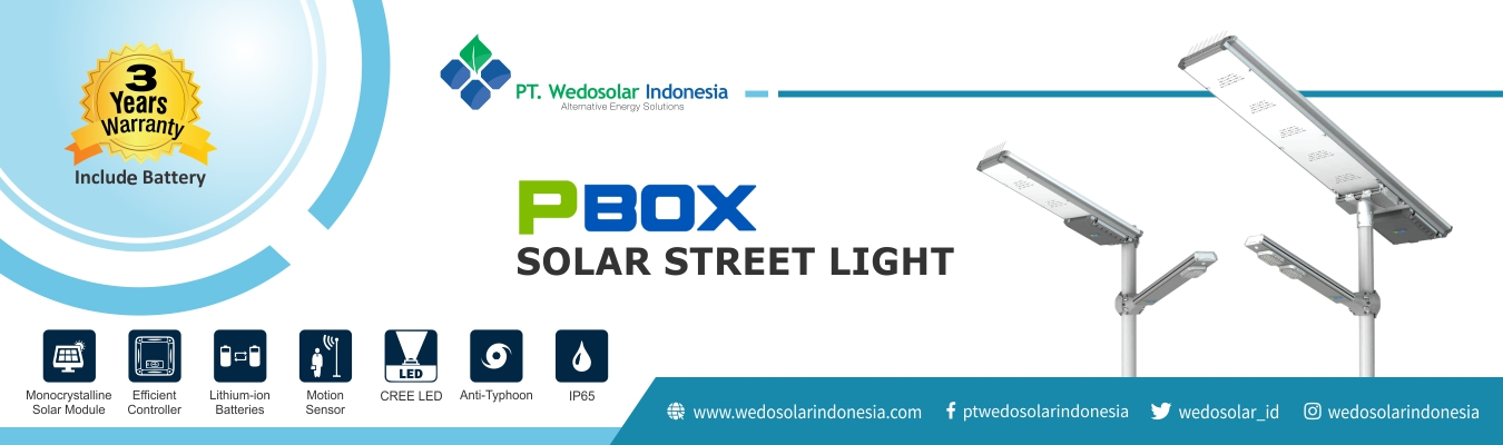PBOX Solar Street Light PT. Wedosolar Indonesia
